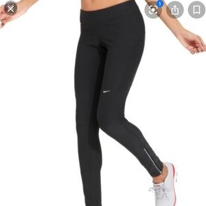 Nike Dri Fit Ankle Zip Running Leggings Black SM
